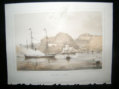 Saint Helena Perry Expedition 1856 Antique Print. Jamestown, St. Helena. Ships | Albion Prints